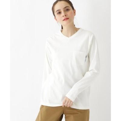 BASE STATION / ベースステーション 【WEB限定】長袖 ヘビーウェイトポケットTシャツ Vネック