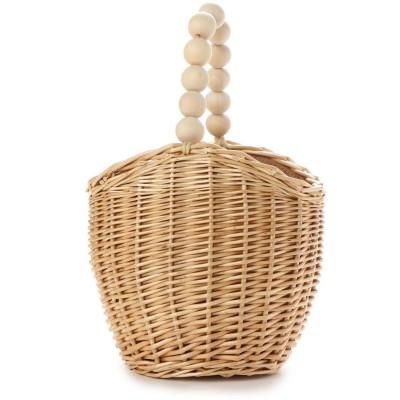 ハリン HALIN かごバッグ レディース トートバッグ 大人 浴衣 巾着 コンパクト Wood Ball Basket (ナチュラル)