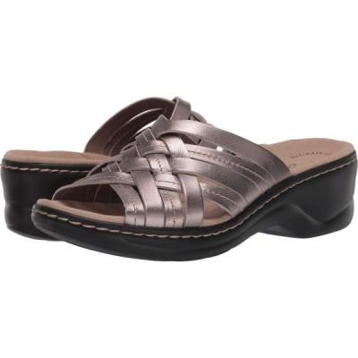 クラークス Clarks レディース サンダル・ミュール シューズ・靴 Lexi Selina Pewter Metallic Leather