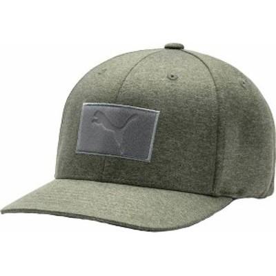 プーマ メンズ 帽子 アクセサリー PUMA Men's Utility Patch 110 Snapback Golf Hat Deep Lichen Green