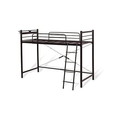 クオリアル 棚コンセント付き ロフトベッド シングル ロータイプ ベッド おしゃれ 【AQUA】アクア 高さ151.5cm ダ?