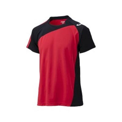 アシックス 4994807617348 XW1321 ゲームシャツHS Vレツドxブラツ サイズ:140