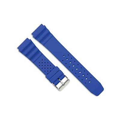 【新品・送料無料】Casioスタイルゴム時計バンド–ブルー–20mm