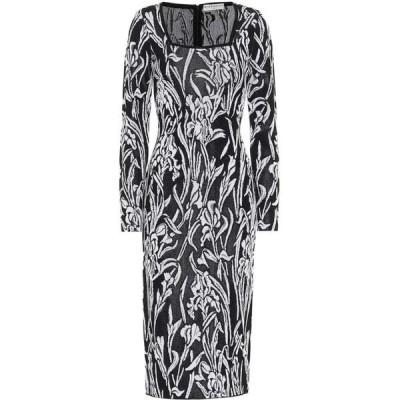 ジバンシー Givenchy レディース ワンピース ミドル丈 ワンピース・ドレス iris jacquard midi dress Black/White