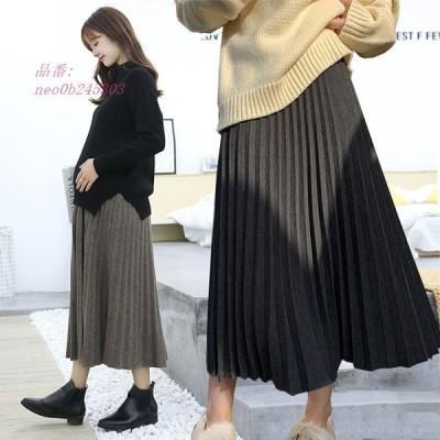 マタニティスカート プリーツ スカート 妊婦服 妊婦スカート ロングスカート 体型カバー 大きいサイズ 伸縮 産前産後 ママ服 スカート ストレッチ ウエスト調整