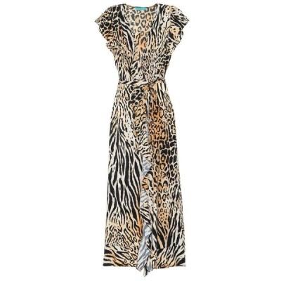 メリッサ オダバッシュ Melissa Odabash レディース ワンピース ラップドレス マキシ丈 ワンピース・ドレス brianna printed maxi wrap dress Cheetah