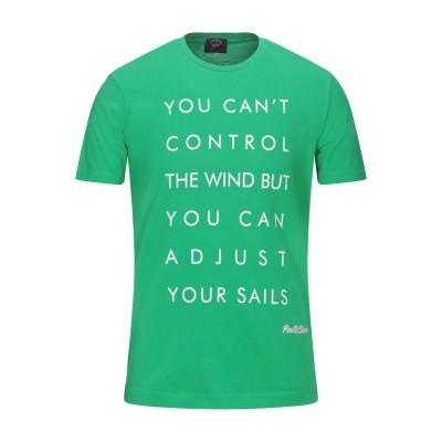ポール・アンド・シャーク PAUL & SHARK T シャツ グリーン XL コットン 100% T シャツ