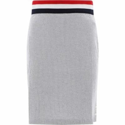 トム ブラウン Thom Browne レディース スカート Ribbed Skirt With Elastic Band Gray