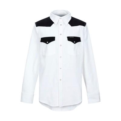 YOOX - CALVIN KLEIN JEANS デニムシャツ ホワイト XS コットン 100% デニムシャツ