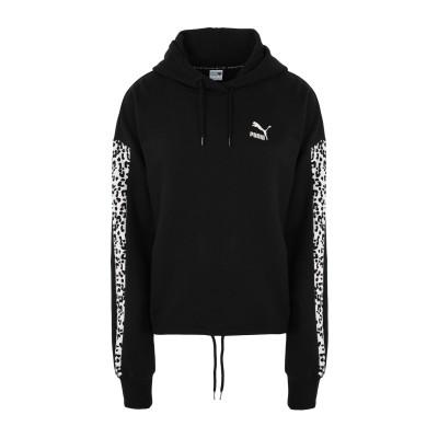 プーマ PUMA スウェットシャツ ブラック XS コットン 100% スウェットシャツ
