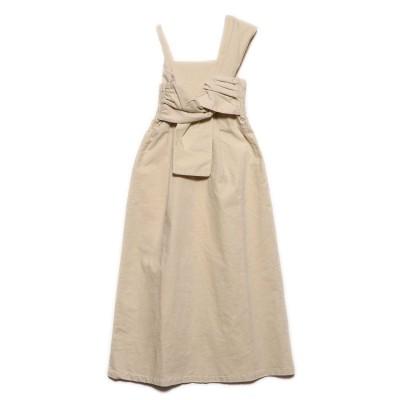 スタイルブロック STYLEBLOCK リブレスコールフロントツイストジャンパースカート (アイボリー)