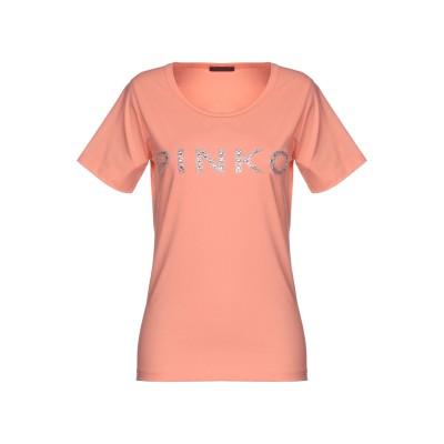 ピンコ PINKO T シャツ サーモンピンク L コットン 95% / ポリウレタン 5% T シャツ