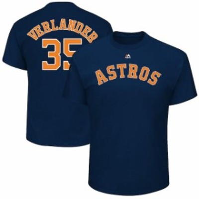 Majestic マジェスティック スポーツ用品  Majestic Justin Verlander Houston Astros Navy Official Name & Number T-Shi