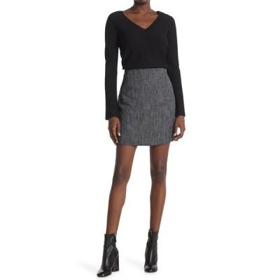 セオリー レディース スカート ボトムス Herringbone Mini Skirt NVMU