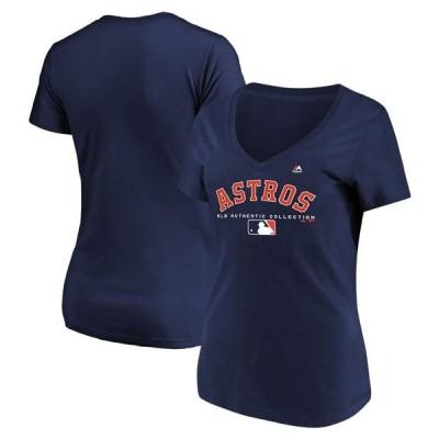 マジェスティック レディース Tシャツ トップス Houston Astros Majestic Women's Authentic Team Drive T-Shirt