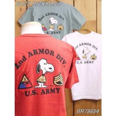バズリクソンズ 2ND ARMOR DIV スヌーピーTシャツ レッド ホワイト セージ BR78684 buzzrickson's