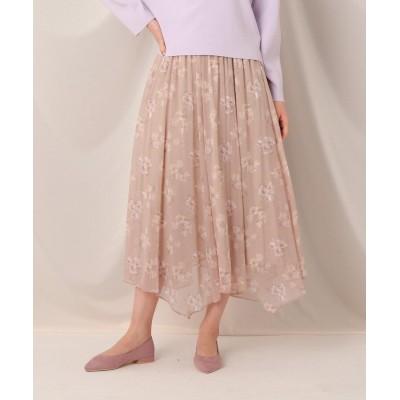 Couture Brooch(クチュールブローチ) シアーチューリップイレギュラーヘムスカート