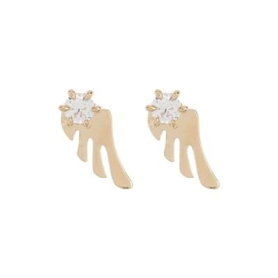 ナディール レディース ピアス&イヤリング アクセサリー Gold Plated Prong Set CZ Wing Stud Earrings GOLD