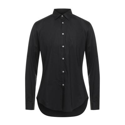 LIU •JO MAN シャツ ブラック 40 コットン 97% / ポリウレタン 3% シャツ