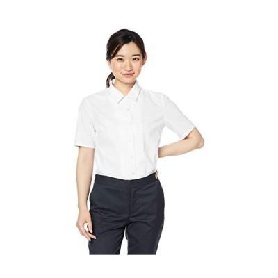[セシール] ブラウス 形態安定シャツ 半袖 UVカット 抗菌防臭 MW-1947 レディース ホワイト 日本 L (日本サイズL相当)