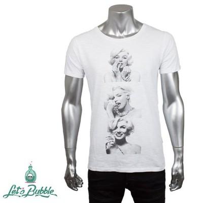 Let's Bubble レッツ バブル メンズ 半袖Tシャツ 5 WHITE ホワイト