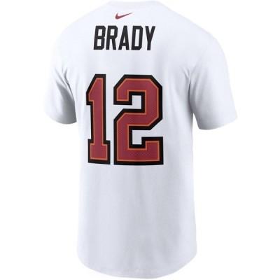 ナイキ Tシャツ トップス メンズ Nike Men's Tampa Bay Buccaneers Tom Brady 12 Super Bowl LV Champs T-shirt White