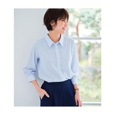 【ぽっちゃりさんサイズ】カットソーシャツ(7分袖)(UVカッ… L LL 3L|1757-194608