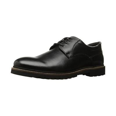 Rockport Men's Marshall Plain Toe Oxford black Leather, 10.5 W US, 10.5 W US