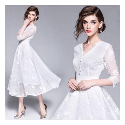 レース ドレス ワンピース 結婚式 ドレス お呼ばれドレス レース 二次会 お呼ばれ パーティ 結婚式 結婚式 ワンピース パーティードレス