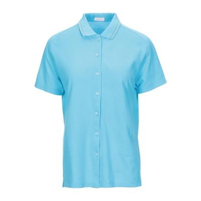 ROSSOPURO シャツ アジュールブルー XL コットン 100% シャツ