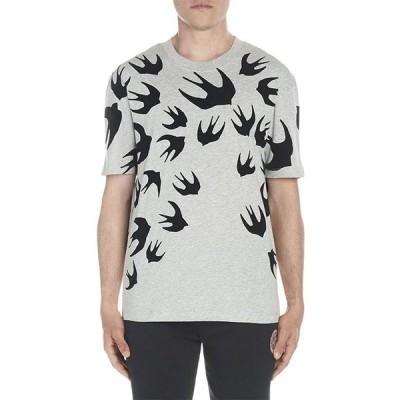 McQアレキサンダーマックイーン メンズ Tシャツ トップス Gray Swallows Tee
