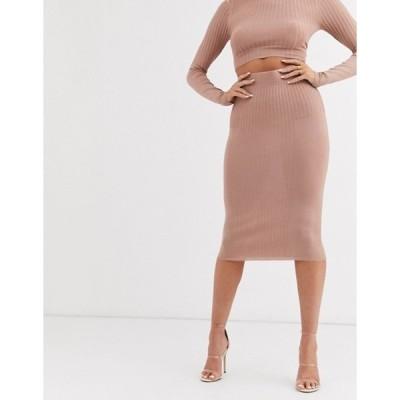 エイソス レディース スカート ボトムス ASOS DESIGN two-piece pencil skirt in stuctured rib