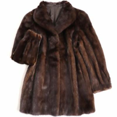 極美品▼SAGA MINK サガミンク 本毛皮コート ダークブラウン 毛質艶やか・柔らか◎