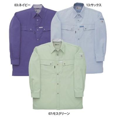 CR10459 長袖シャツ  春夏用  作業服 作業着 3L 4L対応  大きいサイズ対応  作業服 作業着 ユニフォームのヤフー通販