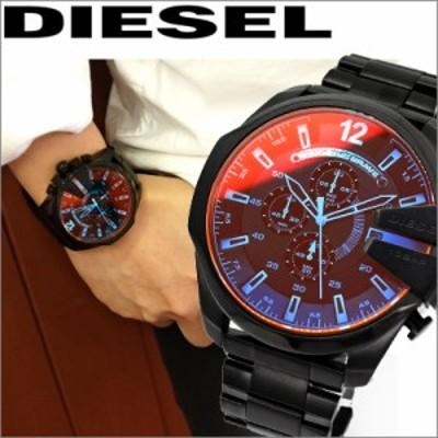 【レビューを書いて5年保証】  ディーゼル DIESEL メガチーフ時計 腕時計 メンズブラック DZ4318