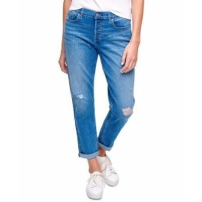 カルバンクライン レディース デニムパンツ ボトムス Ripped Cuffed Jeans Kingstone