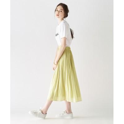 【手洗い可・人気アイテム】リキッドギャザースカート