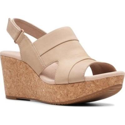 クラークス Clarks レディース サンダル・ミュール ウェッジソール シューズ・靴 Annadel Ivory Wedge Sandal Sand Nubuck