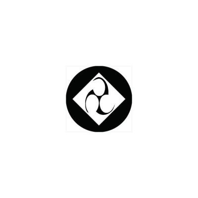 家紋シール 三つ巴菱紋 直径4cm 丸型 白紋 4枚セット KS44M-1534W