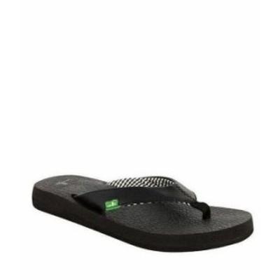 サヌーク レディース サンダル シューズ Yoga Mat Flip Flop Sandals Ebony