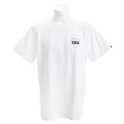 ビラボンストリート系スポーツTシャツ 半袖 DECAL CUT AJ011205 WHN ホワイト×ブラック