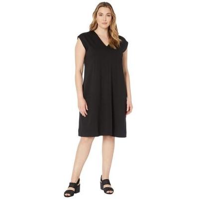 エイリーンフィッシャー レディース ワンピース トップス Plus Size V-Neck Dress