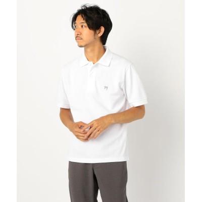 【フレディアンドグロスター】 ASTLAD刺しゅう ポロシャツ メンズ ホワイト L FREDY&GLOSTER