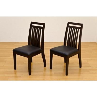 ダイニングチェア レザー 革シート テーパード仕上げ 木製 北欧モダン ベーシックデザイン デスクにも 天然木 ブラウン 椅子 いす イス 完成品 2脚セット