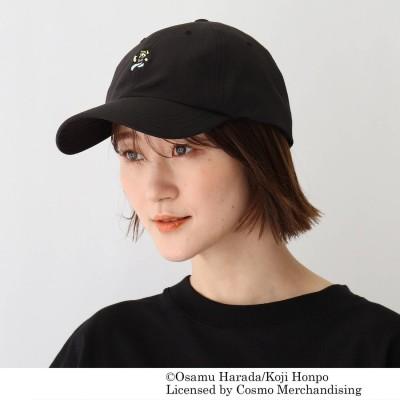 ベース コントロール BASE CONTROL OSAMU GOODS/オサムグッズ コラボ 刺繍コットンナイロンローキャップ (ブラック)