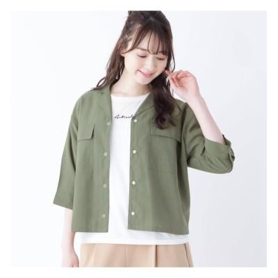 【シューラルー/SHOO・LA・RUE】 【M-L/2点セット】開襟シャツ+ロゴTシャツ