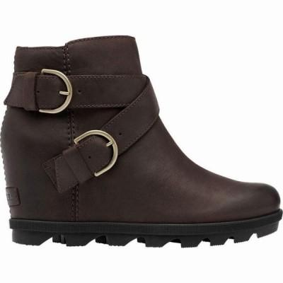 (取寄)ソレル レディース ジョアン オブ アークティック ウェッジ 2 バックル ブーツ Sorel Women Joan Of Arctic Wedge II Buckle Boot Blackened Brown