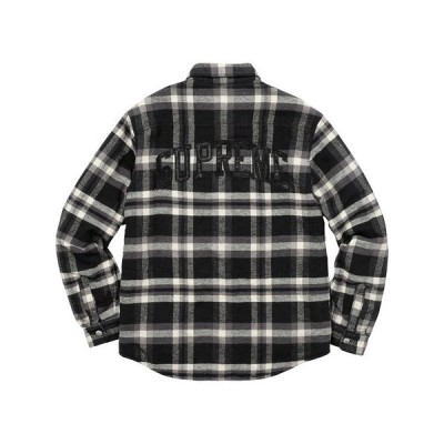 Supreme シュプリーム 2017-18年秋冬 Quilted Arc Logo Flannel Shirt シャツ ブラック チェック ロゴ