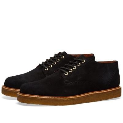 ワイルドバンチ Wild Bunch メンズ シューズ・靴 Classic 5 Eyelet Shoe Black Suede