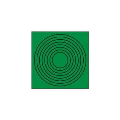 ユニット ゲージマーカー円形緑・PPステッカー・10枚組 安全標識 446-86 返品種別B